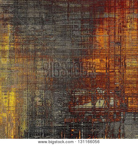 Vintage aged texture, old scratched background. With different color patterns: yellow (beige); brown; red (orange); gray; black