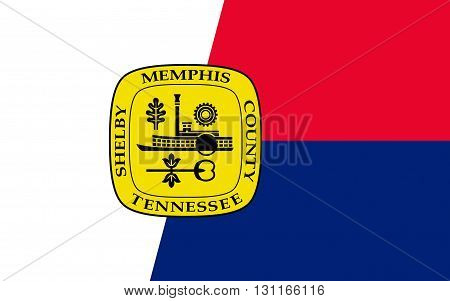 Flag of Memphis is a city in the southwestern corner of the U.S. state of Tennessee and the county seat of Shelby County
