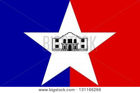 Flag of City of San Antonio is the seventh most populated city in the United States of America and the second most populated city in the state of Texas