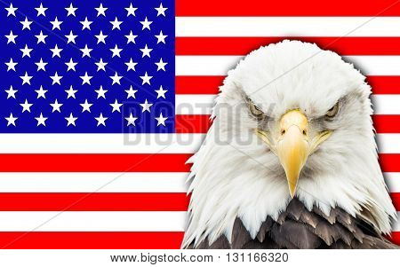 Flag of United States of America (USA) (U.S.) or America is a federal republic composed of 50 states the federal district of Washington D.C..