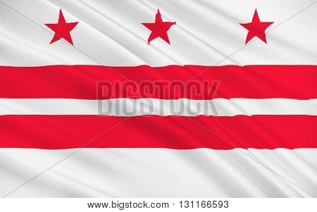 Flag of Washington D.C. formally the District of Columbia and commonly referred to as Washington the District or simply D.C. is the capital of the United States
