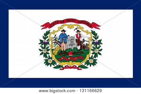 Flag of West Virginia is a state located in the Appalachian region of the Southern United States