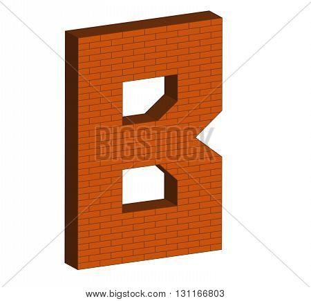 Letter Alphabet Of Brick