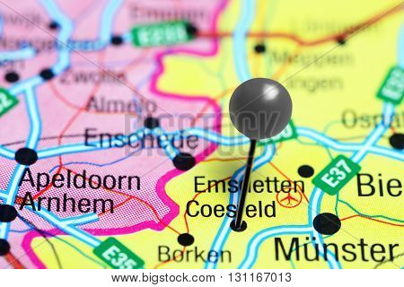 Coesfeld pinned on a map of Germany