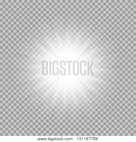 Vector set of glowing light bursts with sparkles on transparent background. Transparent gradient stars, lightning flare. Magic, bright, natural effects. Abstract texture for your design and business.