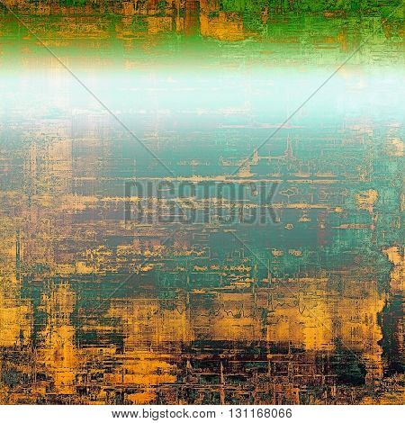 Grunge retro composition, textured vintage background. With different color patterns: yellow (beige); green; blue; gray; cyan