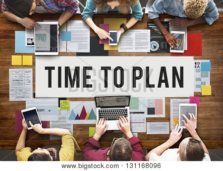 Time To Plan Organizer Date Management Concept
