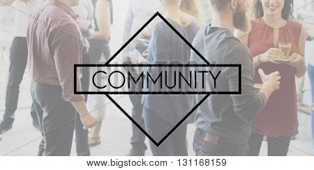 Community Society Citizen Unity Group Concept