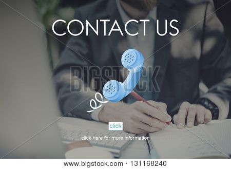Contact Us Assistance Correspondence Customer Concept