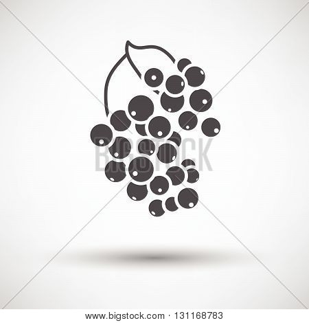 Black Currant Icon On Gray Background