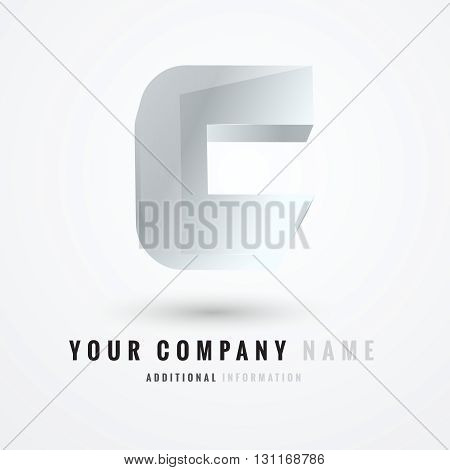c letter logo design 100%vector easy to re edit and re-size up to your target