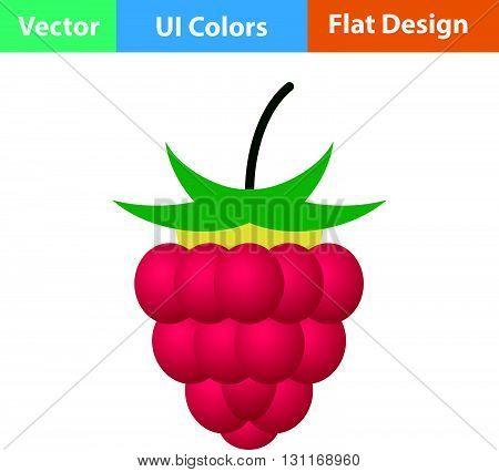 Flat Design Icon Of Raspberry