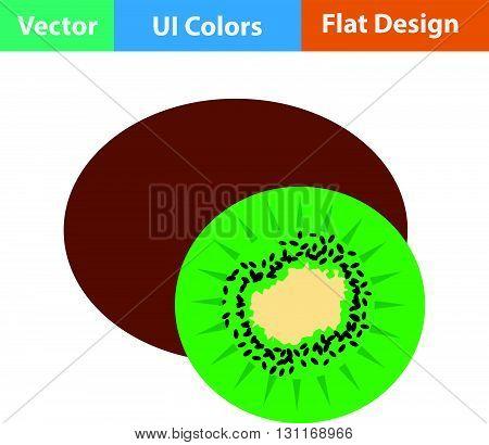 Flat Design Icon Of Kiwi