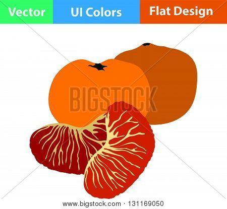 Flat Design Icon Of Mandarin