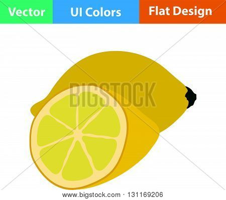 Flat Design Icon Of Lemon
