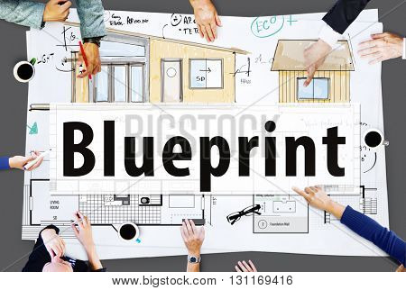 Blueprint Architecture Masterplan Template Concept