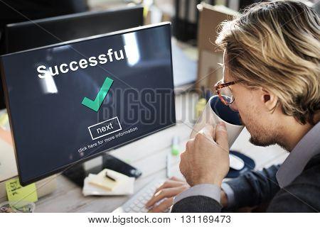 Success Successful Accomplishment Achievement Concept