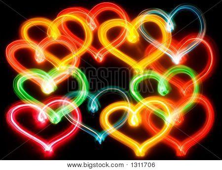 Herzen Lichter Hintergrund