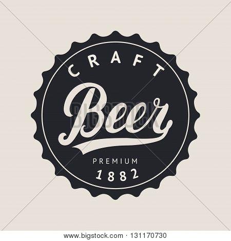 Beer logo lettering for logotype, label, badge and other design. Retro vector illustration.