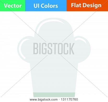 Chief cap icon. Vector illustration. Flat design ui.