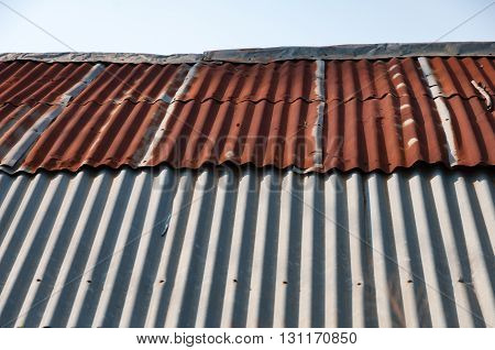 Aged rusty old tin roof iron metal textures