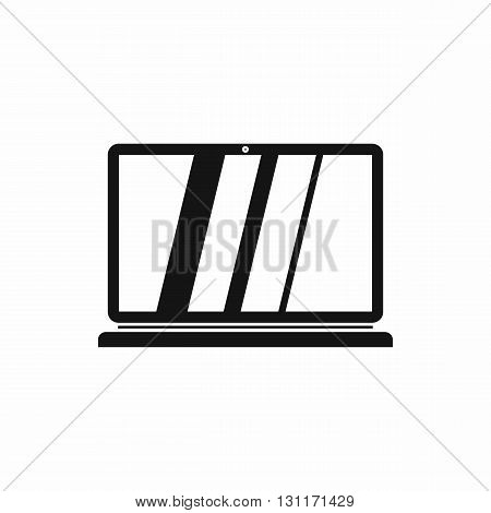 Laptop icon in simple style on a white background