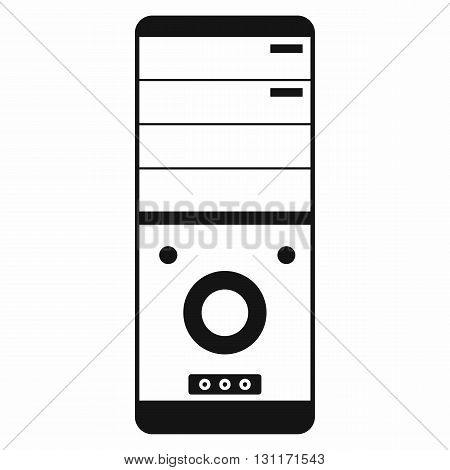 Computer system unit icon in simple style on a white background
