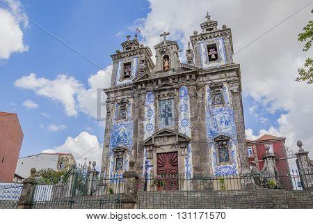 PORTO, PORTUGAL - APRIL 20, 2016: Church of Saint Ildefonso in the historical center of Porto, Portugal