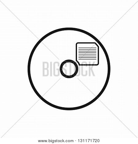Blank CD icon in simple style on a white background