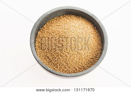 Amaranth Seeds Isolated On White