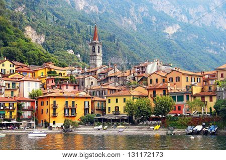 Varenna town on Como lake in Italy