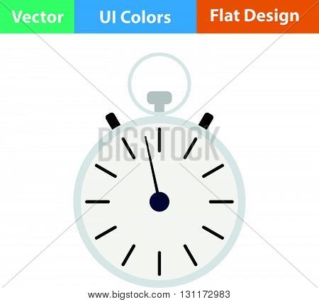 Stopwatch icon. Vector illustration. Flat design ui.