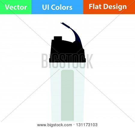 Fitness bottle icon. Vector illustration. Flat design.