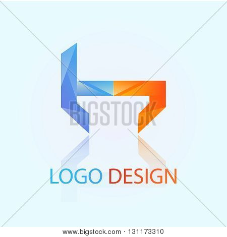 h letter  logo design 100%vector easy to re edit and re-size up to your target