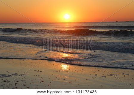 Sun Rise on the Ocean Myrtle Beach South Caronia