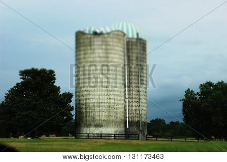 Old farming  Hay stacks North Carolina rainy day