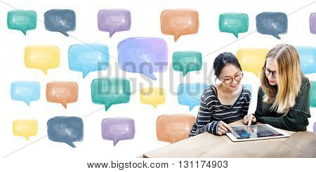 Communication Talking Icon Speech Bubble Concept