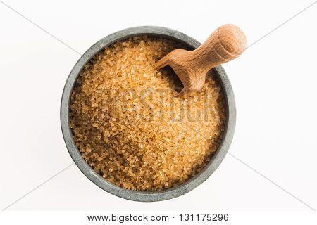 Brown Sugar Isolated On A White Background