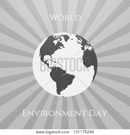 World Environment Day Eco Background Template. Vector Illustration.
