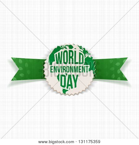 World Environment Day Eco Banner Template. Vector Illustration.