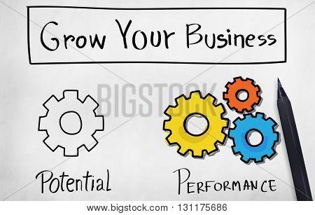Potential Performance Efficiency Accomplishment Concept
