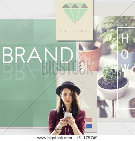 Brand Branding Label Marketing Profile Trademark Concept