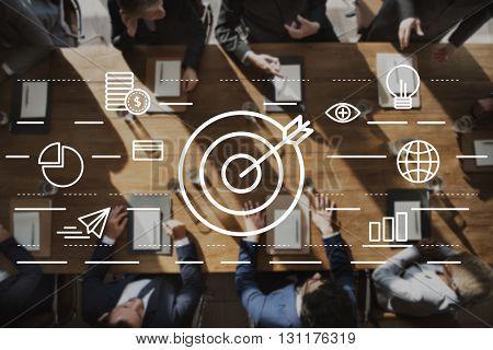Target Vision Mission Creative Ideas Concept