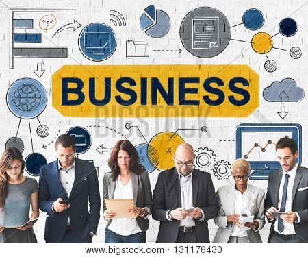 Business Management Company System Graphics Concept