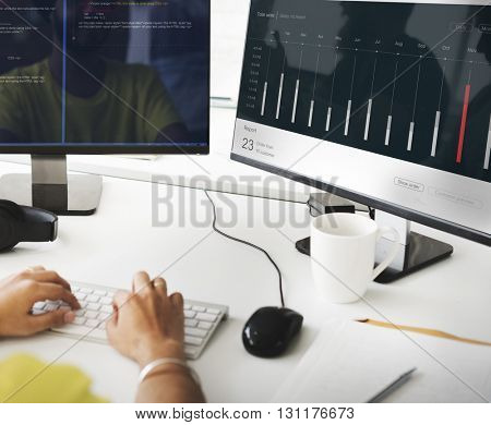 Sales Order Dashboard Statistics Concept