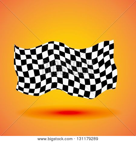 Racing background with checkered flag vector illustration.