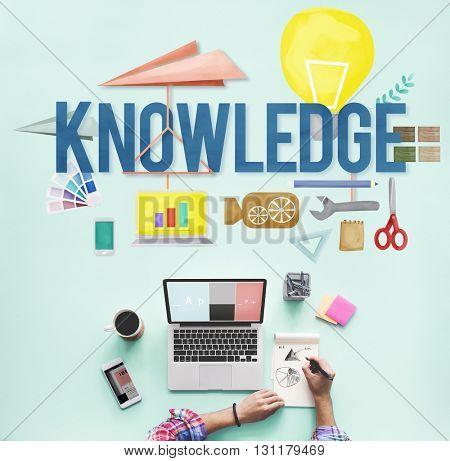 Knowledge School Course Degree Graphics Concept