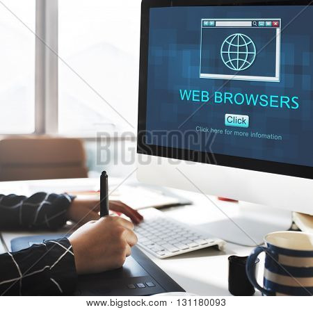 Web Browsers Global Page Site Interface Concept