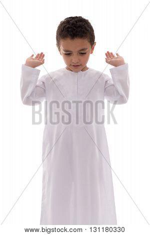 Little Muslim Boy Praying