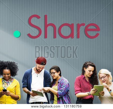 Share Sharing Ideas Graphic Concept